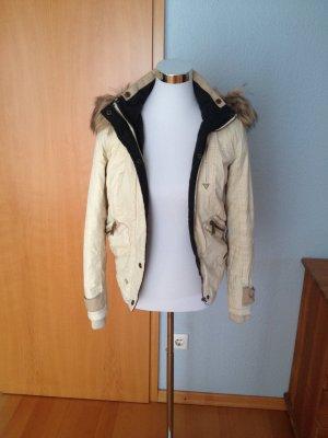 Frühling!! Jacke mit abnehmbarer Fake Fur Kapuze, Größe xs/s