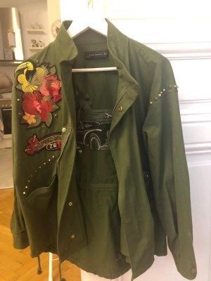 Zara Oversized jack donkergroen-groen