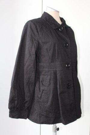 Frühlings Mantel Athmosphere Baumwolle retro Look Gr.UK 14 EUR 42 schwarz