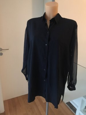 Orsay Transparante blouse donkerblauw-blauw Viscose
