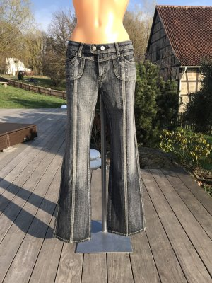 Denim Flares multicolored cotton