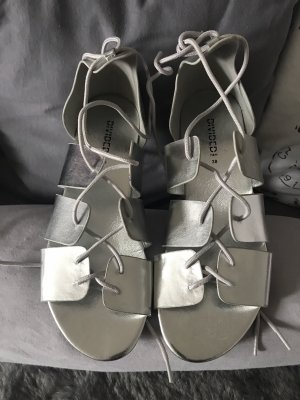 H&M Divided Roman Sandals silver-colored-beige