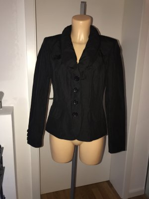 FRÜHLINGS-SALE!!! * NUR NOCH HEUTE!!! * Schöner schwarzer Blazer * mit Schalkragen * leicht glänzend