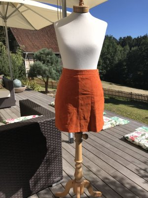 Gypsy Leather Skirt multicolored suede