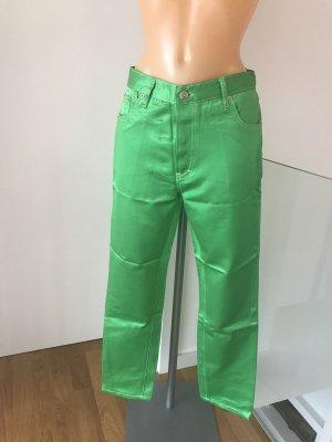 Pantalone a vita alta verde