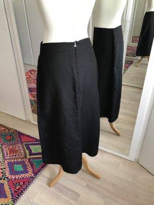 Joy Falda de lino negro Lino