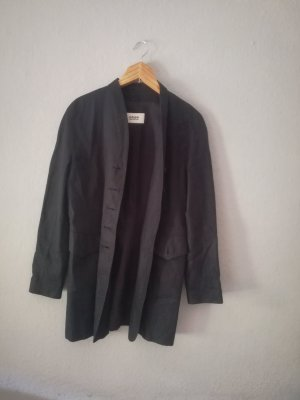 STIFF Blazer long noir lin