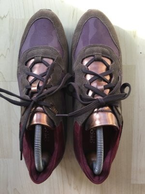 Frühlingsdeal: GEOX-Sneaker in Rosegold, Military-Style Gr. 41 Super Zustand