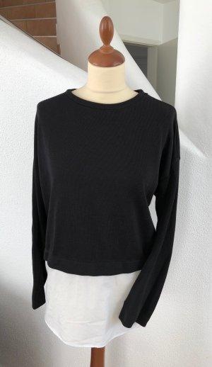 edc by Esprit Sweatshirt wit-zwart Katoen
