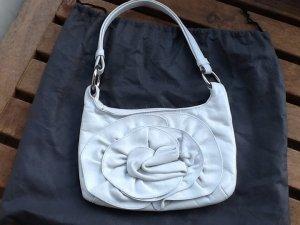 Frühlingshaftes weißes Leder -Täschchen von abro
