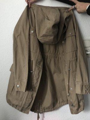 Giacca con cappuccio marrone-marrone chiaro