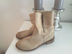 High-Heeled Sandals cream-beige