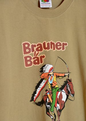 FRUIT OF THE LOOM Langnese Brauner Bär Logoshirt Printshirt Braun XL