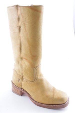 Frye Absatz Stiefel dunkelgelb-goldorange Casual-Look