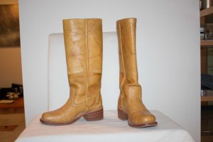Frye Western Boots nude leather