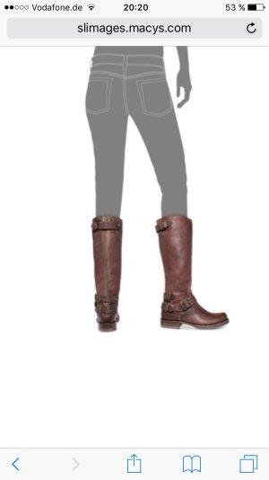 Frye Boots Leder Stiefel  braun. NEU! Gr 37,5