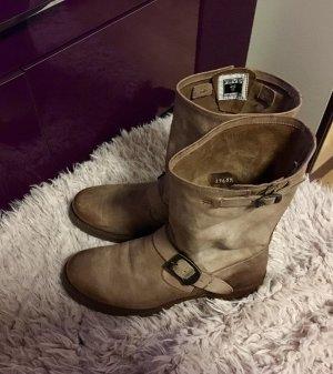Frye Boots Stiefeletten in Beige im used Look Neuwertig