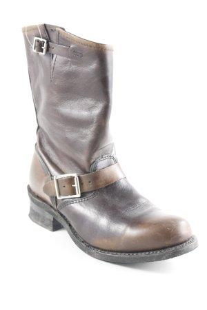 Frye Korte laarzen bruin-lichtbruin vintage uitstraling
