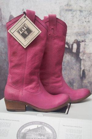 Frye Western Laarzen roze Leer