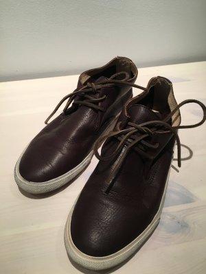 FRYE Mindy High Top Sneakers Chukka Boots Gr. 40, dunkelbraun, wie NEU