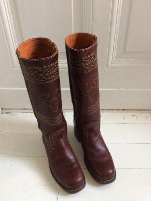 Frye Stivale western bordeaux-marrone-rosso Pelle