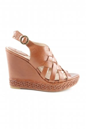Frye Wedges Sandaletten braun Casual-Look