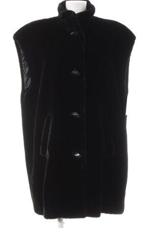 FS Smanicato in ecopelliccia nero elegante