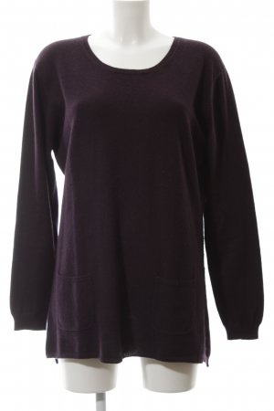 FTC Cashmere Cashmerepullover lila Casual-Look
