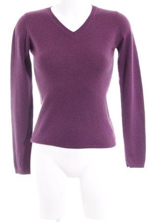 FTC Cashmere Sudadera de cachemir violeta look casual
