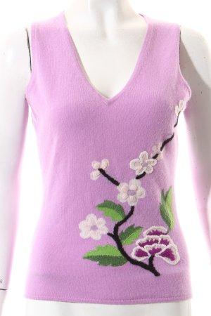 FTC Cashmere Feinstrickpullunder florales Muster klassischer Stil