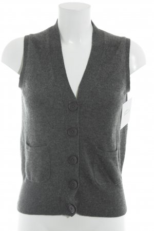 FTC Cashmere Short Sleeve Knitted Jacket dark grey casual look