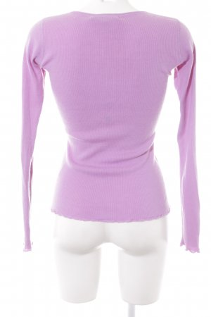 FTC Cashmere Ribbed Shirt lilac casual look