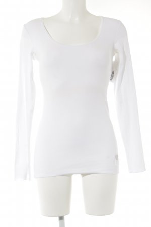 FTC Cashmere Ribbed Shirt white casual look