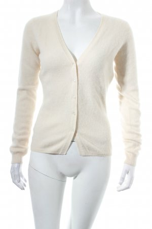 FTC Cashmere Strick Cardigan creme Casual-Look