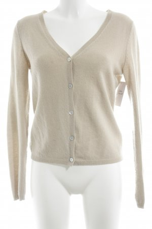 FTC Cashmere Strick Cardigan hellbeige Casual-Look