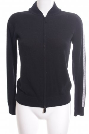FTC Cashmere Strickjacke schwarz-weiß sportlicher Stil