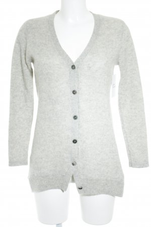 FTC Cashmere Strickjacke hellgrau Glitzer-Optik