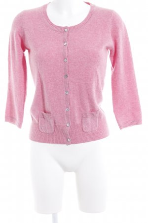 FTC Cashmere Strickjacke rosa Casual-Look