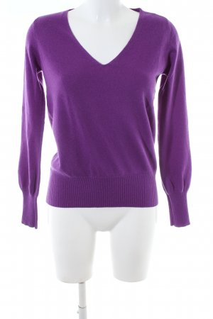 FTC Cashmere V-Neck Sweater lilac business style
