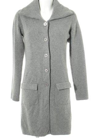 FTC Cashmere Manteau en laine gris style décontracté