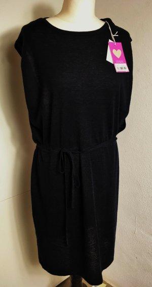 * FTC * NEU ! Fair Trade Cashmere - Strick Kleid  schwarz 70 % KAschmir 30 % Seide Gr L 40