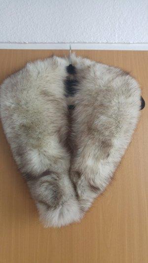 Sciarpone bianco-grigio chiaro Pelliccia
