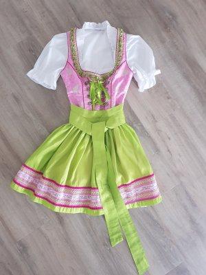 Fuchs Trachtenmoden Vestido Dirndl rosa-verde claro