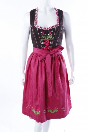 Fuchs Dirndl braun-pink