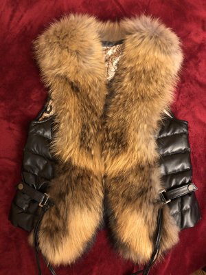 0039 Italy Fur vest multicolored