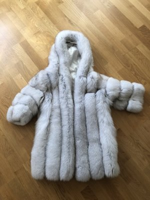 Fur Jacket light grey-silver-colored