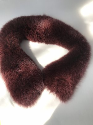 Woolen Scarf bordeaux fur