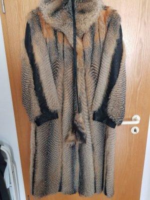 Fuchs Mantel mit Leder