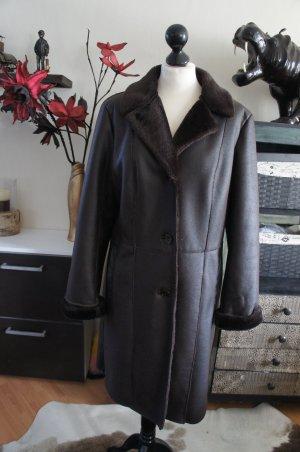 FUCHS SCHMITT Mantel Größe 42 Fake Fur Lammfell