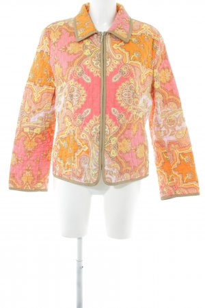 Fuchs Schmitt Quilted Jacket light orange-pink abstract pattern